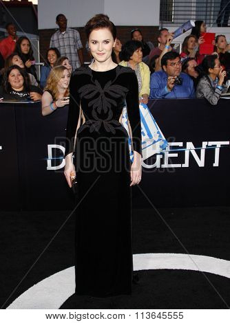 Veronica Roth at the Los Angeles premiere of