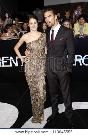 Shailene Woodley and Theo James at the Los Angeles premiere of