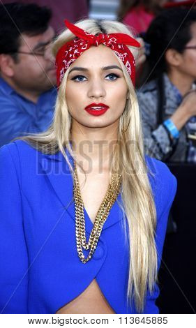 Pia Mia at the Los Angeles premiere of