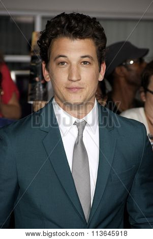 Miles Teller at the Los Angeles premiere of