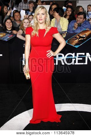 Kate Winslet at the Los Angeles premiere of