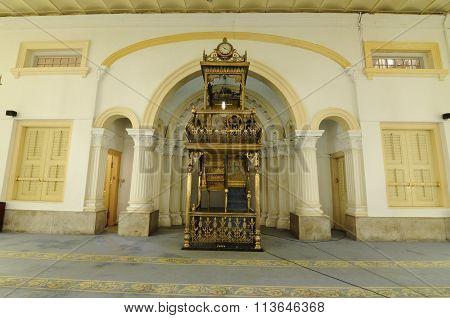Mimbar of Sultan Abu Bakar State Mosque in Johor Bharu, Malaysia