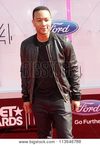 John Legend at the 2014 BET Awards held at the Nokia Theatre L.A. Live in Los Angeles, USA on June 29, 2014.