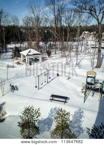 Quiet, Snowy Playground