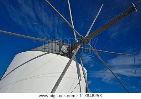 Antique windmill detail