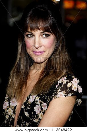 Lindsay Sloane at the Los Angeles premiere of