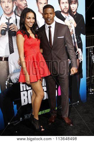 Jamie Foxx and Corinne Bishop at the Los Angeles premiere of