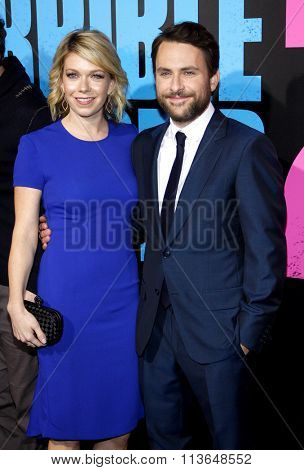 Charlie Day and Mary Elizabeth Ellis at the Los Angeles premiere of
