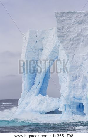 Tower Sculpture In Iceberg