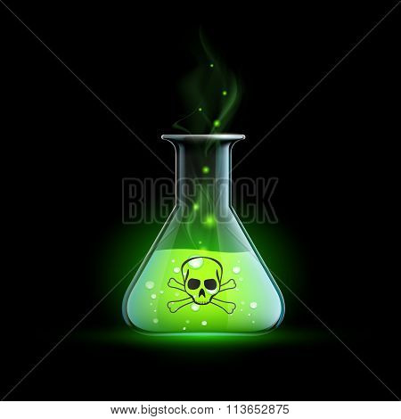 Poisonous Liquid. Stock Illustration.