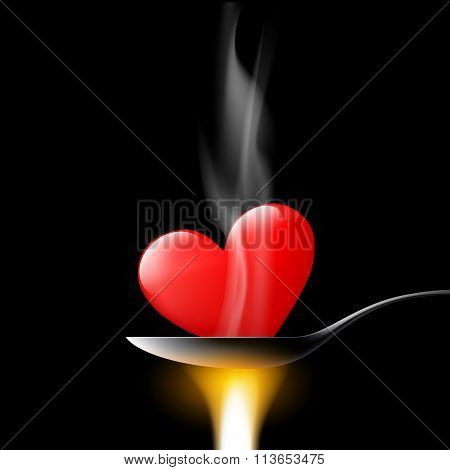 Human Heart. Stock Illustration.