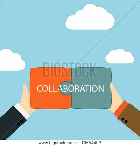 Symbol Of Business Partnership.
