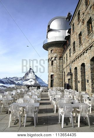 Gornergrat viewpoint on Matterhorn