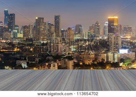 City skyline background aerial view