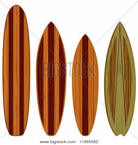 wooden surfboards