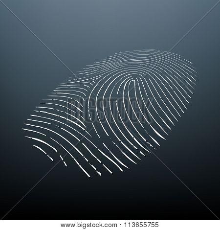Biometric Data. Stock Illustration.