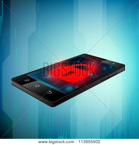 Black Smartphone. Stock Illustration.