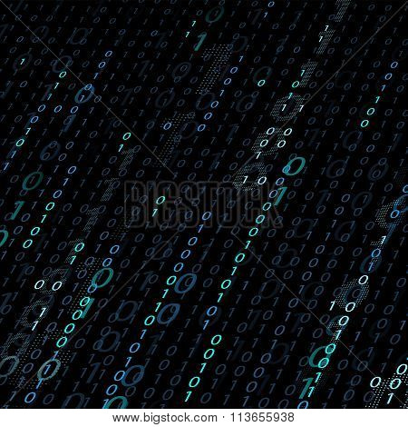 Background Of Binary Code.