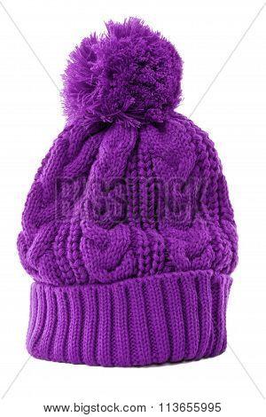 Purple Winter Bobble Hat