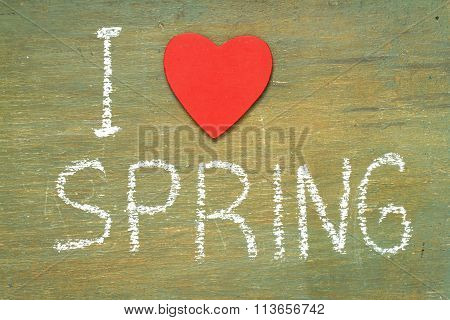 Text I Love Spring