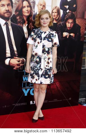 Jane Levy at the Los Angeles premiere of 'This Is Where I Leave You' held at the TCL Chinese Theatre in Los Angeles, USA on September 15, 2014.