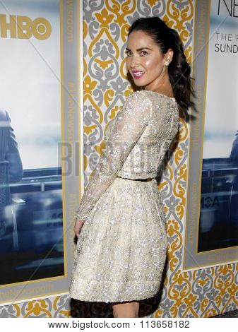 Olivia Munn at the Los Angeles premiere of HBO's