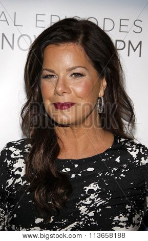 Marcia Gay Harden at the Los Angeles premiere of HBO's