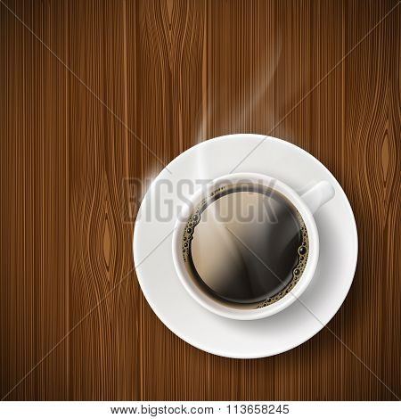 Cup Of Coffee. Stock Illustration.