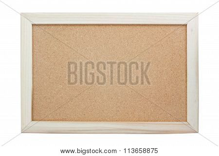 blank corkboard isolated on white background .