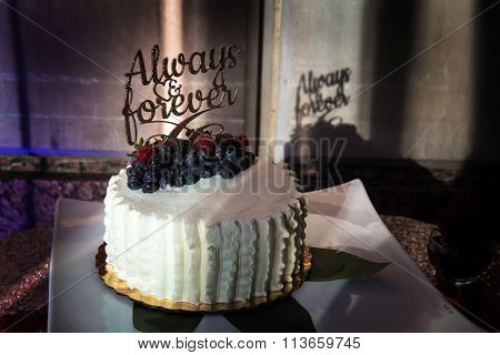 Always And Forever Wedding Cake