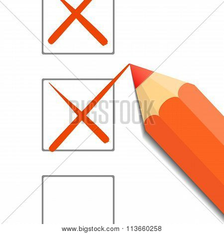 Pencil. Stock Illustration.