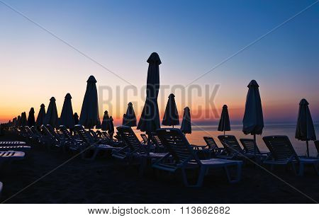 Evening Sea Views And Sun Loungers
