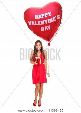 Valentinstag-Frau