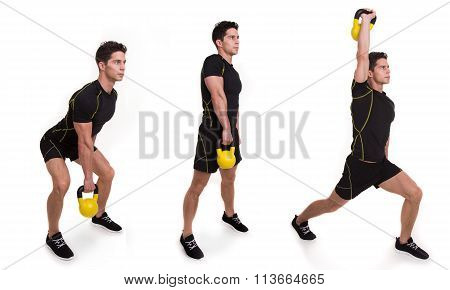 Kettlebell, Snatch Split, Exercise