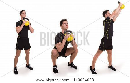 Kettlebell, Squat and Twist Press, Exercise