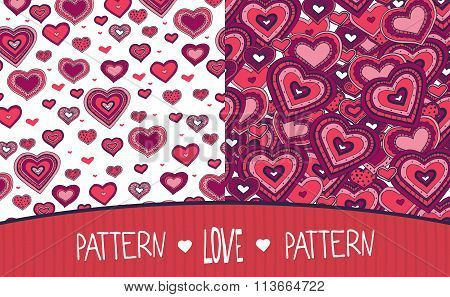 Two Love Patterns White And Red