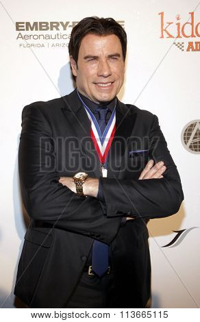 John Travolta at the 11th Annual Living Legends Of Aviation Awards held at the Beverly Hilton Hotel in Los Angeles, California, United States on January 17, 2014.