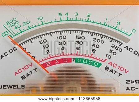 Scale Analog Multimeter