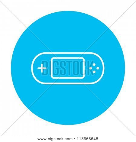 Game console gadget line icon.