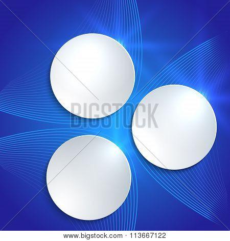 White Plastic Wheels Blue Light Background Pattern Flyer