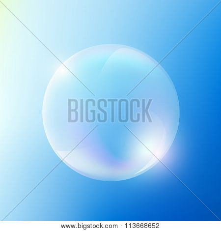 Soap Bubble. Stock Illustration.