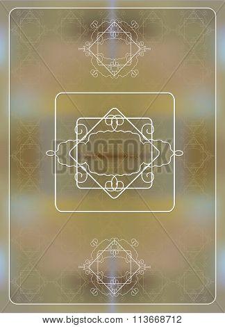 Lace Board On A Beige Seamless Pattern