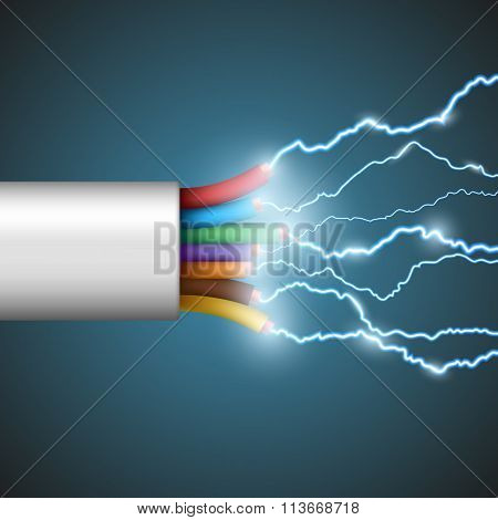 Electrical Discharge. Stock Illustration.