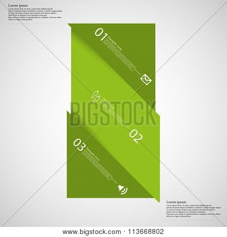 Light Illustration Infographic With Bar Askew Divided To Three Parts