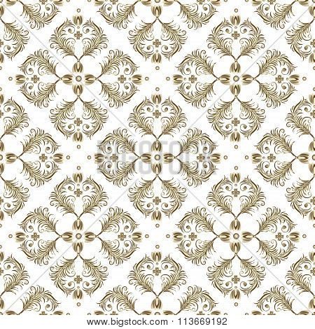 Seamless White Vintage Pattern