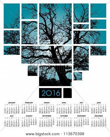 2016 tree and nature calendar
