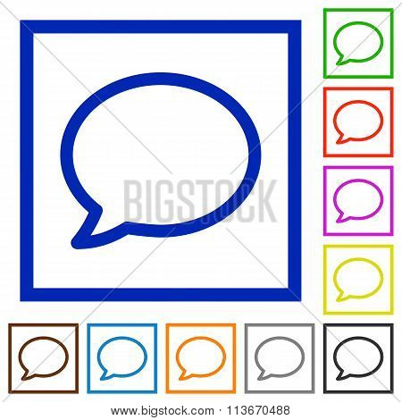 Comment Framed Flat Icons
