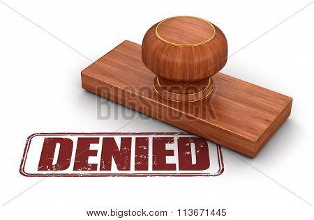 Stamp denied.  Image with clipping path