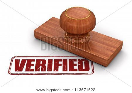 Stamp Verified.  Image with clipping path