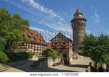 Nuremberg Castle And The Sinwell Tower, Germany, 2015